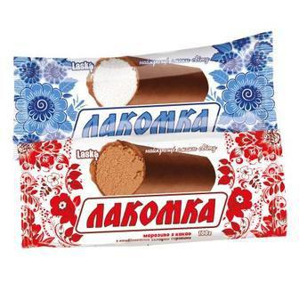 Морозиво Лакомка з какао у глазурі 100г Ласка