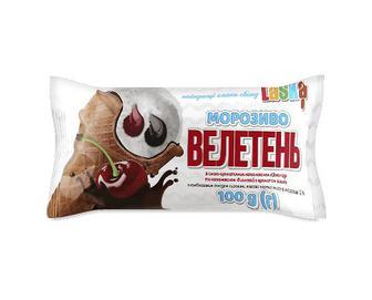 Морозиво Laska «Велетень» з наповнювачем шоколад та вишня, 100г