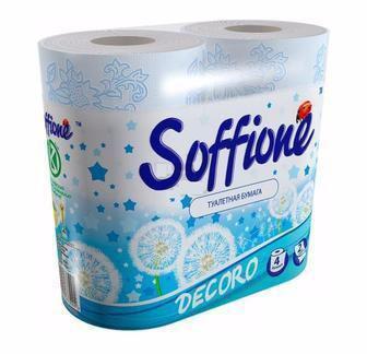 Туалетний папір Aroma 4 шт 2-х шаровий  Soffione
