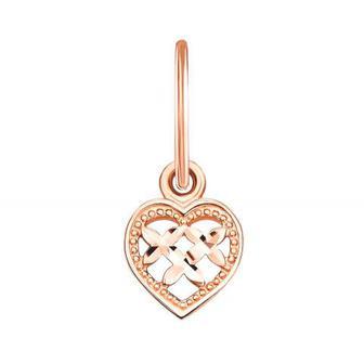 Золотая подвеска «Сердце» с алмазной гранью (3915)