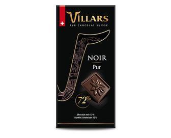 Шоколад какао 72%, Villars, 100 г