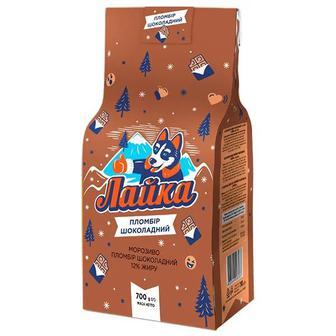 Мороженое пломбир шоколадный 12% Лайка 700 гр