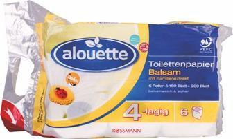 Туалетний папір Alouette Balsam 8шт