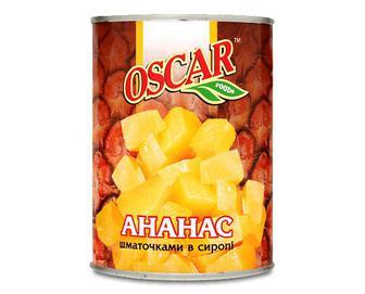 Ананаси Оscar шматочками, 580мл