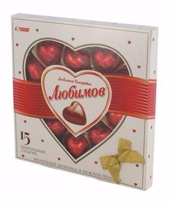 Цукерки Любимов в молочному шоколаді Любимов 125г