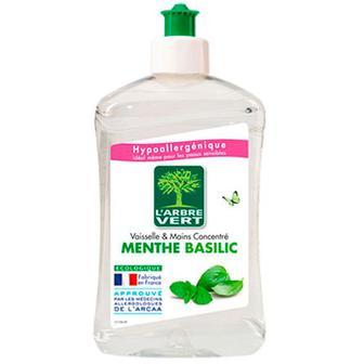 Засіб для миття посуду L`Arbre Vert м`ятний базилік 500мл