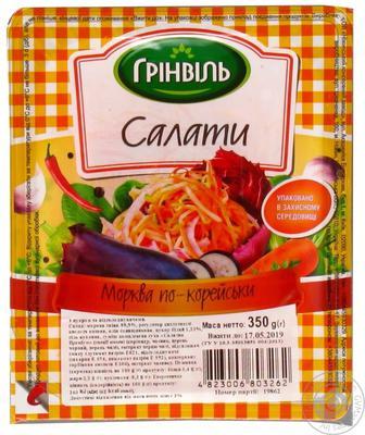 Салати Грінвіль морква по-корейски 350г