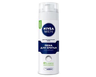 Піна для гоління Nivea для чутливої шкіри, 200мл