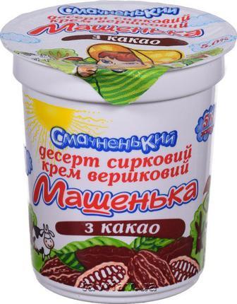 Десерт сирковий з какао 5% Машенька Смачненький 180 г