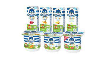 Сирок, Йогурт для малят 100г, йогурт для малят 207г 2,5%, 4% Простоквашино