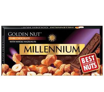 Шоколад Голд Черный Орех, 100г, Millennium