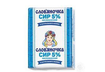 Скидка 14% ▷ Сир кисломолочний Слов'яночка 5% 202г