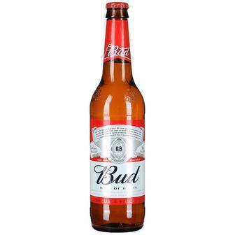 Скидка 26% ▷ Пиво Bud світле 4,8%, 0,5 л