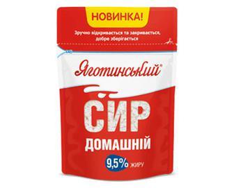 Сир «Яготинський» домашній, 9,5% жиру, 300г
