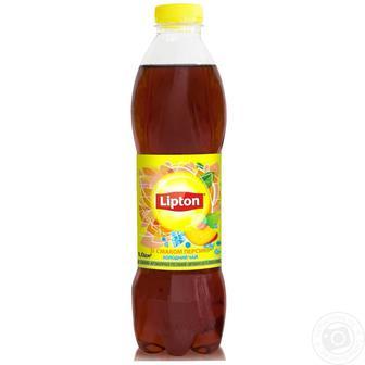 Чай холодний зелений, чорний, персик, лимон  Ліптон  1л