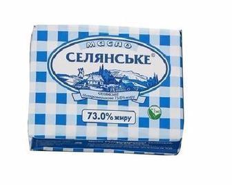 Масло сливочное 72,5% Селянське, 200г