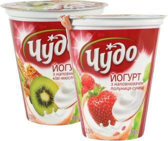 Йогурт Чудо 2,5% 300г