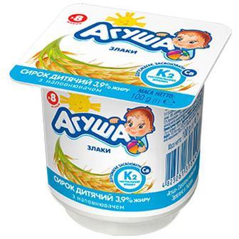 Сирок дитячий Агуша злаки 3,9% 100г