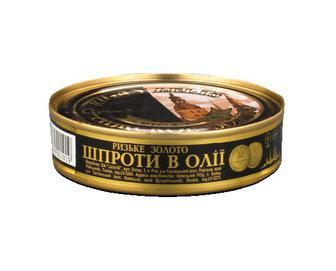 Скидка 50% ▷ Шпроти в олії Riga Gold «Ризьке золото» 160г