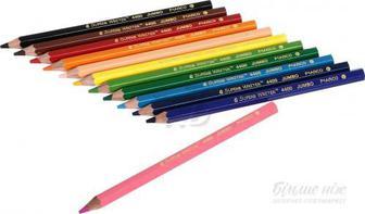 Олівці кольорові Superb Writer Jumbo 4400-12CB 12 шт. з чинкою Marco