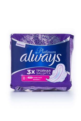 Прокладки для критических дней Always platinum super plus, 7шт
