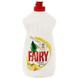 Средство для мытья посуды Fairy сочный лимон, 500 мл