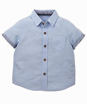"Скидка 50% ▷ Блакитна сорочка ""Oxford"" від Mothercare"