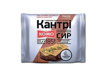 Сир «Кантрі», напівтвердий, з ароматом топленого молока, 50%, скибочки нарізані Комо 185