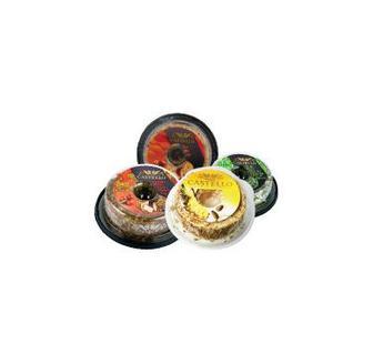 Крем-Сир 65%з ананасом, з томатом та базиліком, з пікантною цибулею, з ромом та горіхами, Кастелло,125г