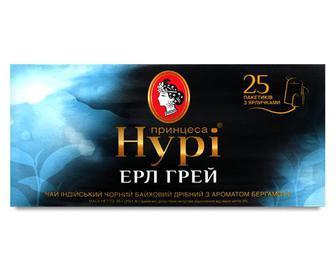 Чай чорний «Принцеса Нурі» «Ерл Грей» 25×1,8 г/уп