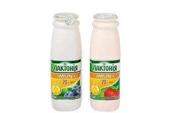 Продукт кисломолочний  Імун+  чорниця/полуниця, 1,5%  Лактонія 100 г