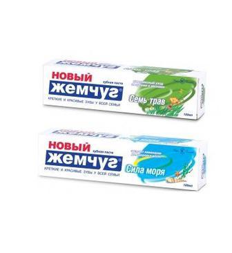 Зубна паста Сила Моря або Сім Трав Новий Жемчуг 100мл