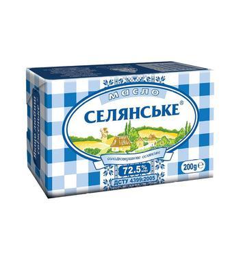 Масло солодковершкове 72,5% Селянське 200г