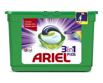 Гель-капсули для прання Ariel автомат Color, 15×28,8 г/уп
