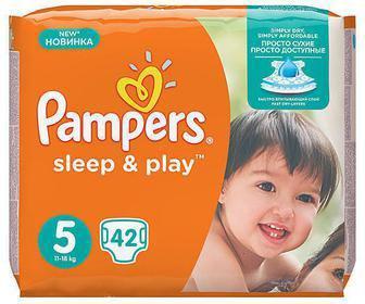 Подгузники Sleep&Play Midi (3), 58 шт. Maxi (4), 50 шт. Junior (5), 42 шт.   Pampers