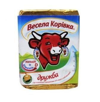 Сир плавлений Вершковий Дружба 50% 90г Весела Корівка
