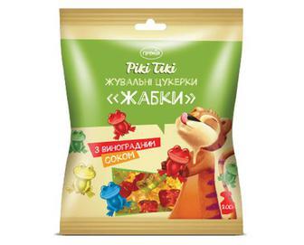 Цукерки жувальні «Жабки» з виноградним соком «Премія Рікі Тікі»® 200г