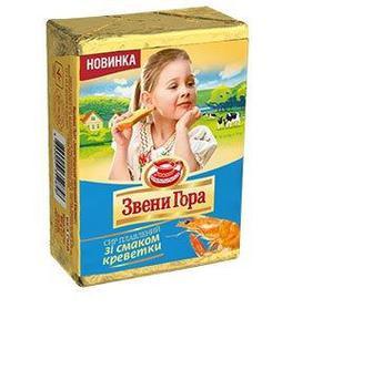 Сыр плавленый со вкусом креветки Звени Гора, 90г