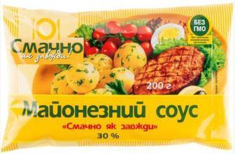 Майонезний соус 30% Смачно як завжди 200 г