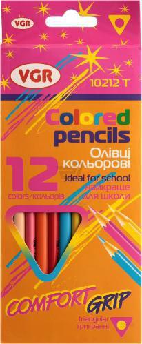 Олівці кольорові 12 шт. Comfort grip Я16352_10212T VGR