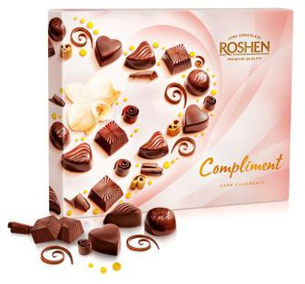 Цукерки Сompliment Dark chocolate Рошен 145г