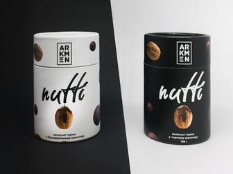 Arkmen Nutti Волоські горіхи у біло-молочному та чорному шоколаді 100 г