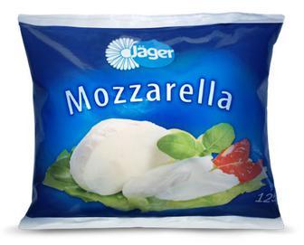 Сир Jager «Моцарел» 45% з коров'ячого молока, 125г