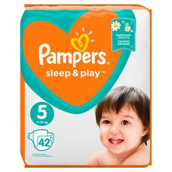 Подгузники PAMPERS Sleep & Play р5 11-16кг 42шт