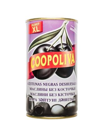 Маслини Кополива чорні б/к 370мл