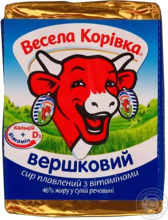 Сир плавлений Весела Корівка вершковий 50% 90г