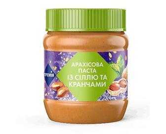 Паста «Премія»® арахісова з сіллю і кранчами, 340г