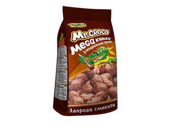 Сухі сніданки кульки з натуральним какао Золоте Зерно Mr. Croco 200г