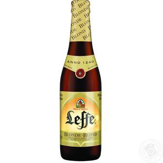 Пиво Leffe Blonde светлое 0,33л стекло