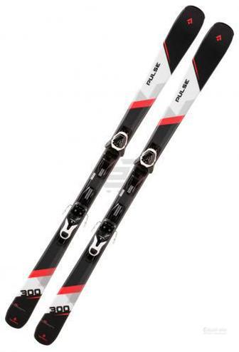Лижі TECNOPRO Pulse 300 270557 + LT100 B80 241292 152 см чорний із червоним